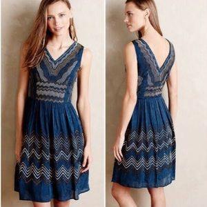Anthropologie Meadow Rue embroidered dress